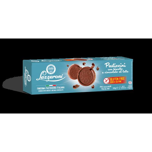 pasticcini con biscotto e cioccolato al latte