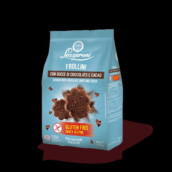 frollino con cacao e gocce di cioccolato