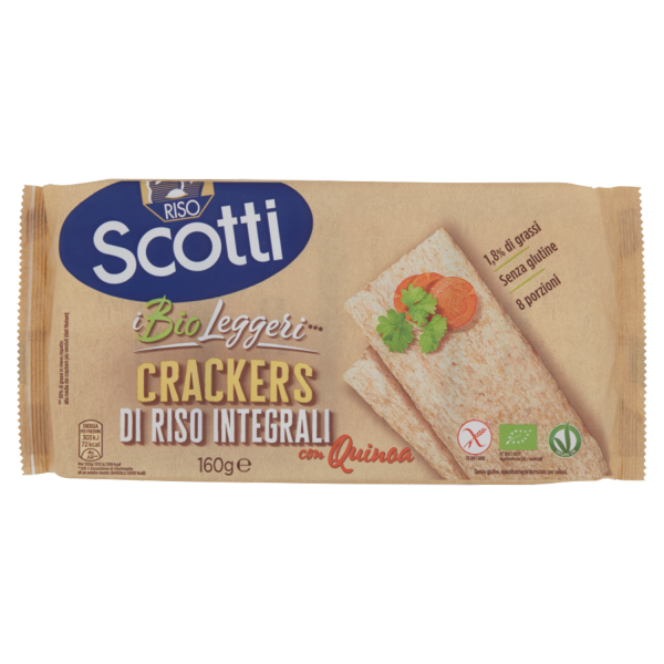 SCOTTI CRACKERS DI RISO INTEGRALI CON QUINOA